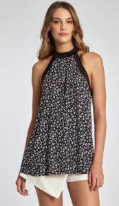 μαύρη γυναικεία μπλούζα με animal print