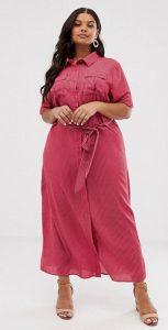 ροζ πουκαμίσα φόρεμα xxxl