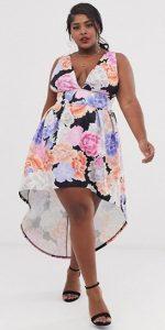 plus size ασύμμετρο φόρεμα καλοκαίρι