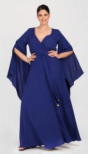 plus size καλοκαιρινό φόρεμα κουμπάρα