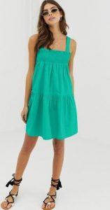 πράσινο αμάνικο γυναικείο φόρεμα μίνι