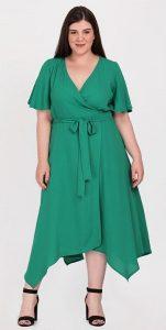 πράσινο κρουαζέ φόρεμα με μύτες