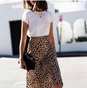 μακροχρόνια σχέση φούστα λεοπάρ animal print t-shirt