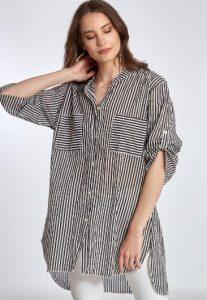 ριγέ πουκάμισο με τσέπες στο στήθος