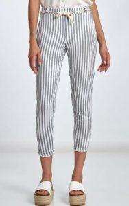 καλοκαιρινό γυναικείο ριγέ παντελόνι μέχρι τον αστράγαλο