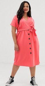 ροζ casual φόρεμα ediva.gr