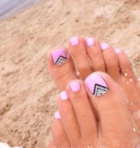 ροζ pedicure