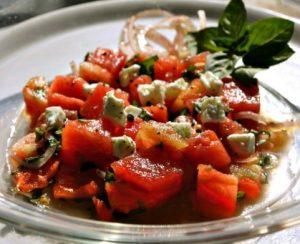 ντομάτα με καρπούζι σαλάτα