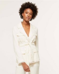 sisley άσπρο σακάκι jacket καλοκαιρινή collection