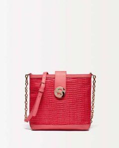 sisley τσάντα ψάθινη κόκκινη καλοκαιρινή collection