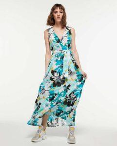 sisley φλοράλ μακρύ φόρεμα λουλούδια καλοκαιρινή collection