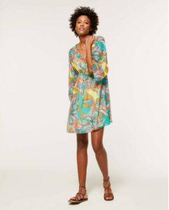 sisley φλοράλ κοντό φόρεμα λουλούδια καλοκαιρινή collection