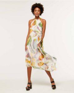 sisley φτερά μακρύ μίντι φόρεμα καλοκαιρινή collection