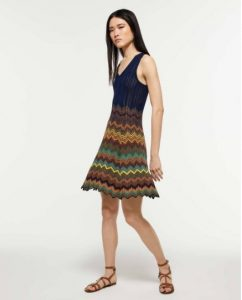 sisley ριγέ λούρεξ πολύχρωμο κοντό μίνι φόρεμα καλοκαιρινή collection