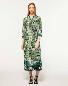 sisley πράσινο μακρύ φόρεμα λουλούδια καλοκαιρινή collection