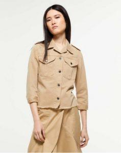 sisley μπεζ σακάκι τζιν μπουφάν jacket καλοκαιρινή collection
