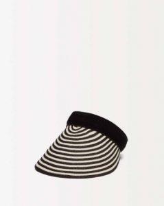 sisley καπέλο παραλία ριγέ άσπρο μαύρο καλοκαιρινή collection