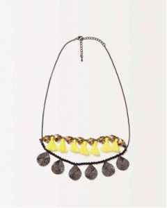 sisley κολιέ πολύχρωμο κίτρινο καλοκαιρινή collection