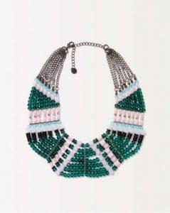 sisley κολιέ πολύχρωμο χάντρες καλοκαιρινή collection