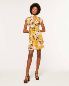 sisley φλοράλ μίνι φόρεμα λουλούδια