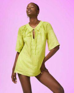 sisley καλοκαίρι μπλούζα κίτρινη κοντομάνικη