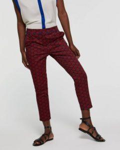 sisley παντελόνι μπορντό κόκκινο καλοκαιρινή collection