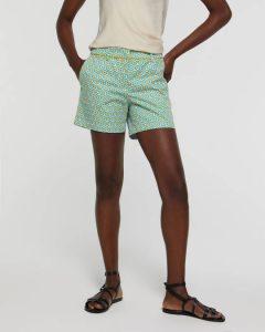 sisley παντελόνι γαλάζιο πολύχρωμο κοντό βερμούδα σορτς καλοκαιρινή collection