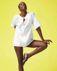 sisley καλοκαίρι μπλούζα πουκάμισο άσπρο λευκό