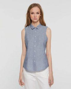 sisley καλοκαίρι μπλούζα γαλάζιο αμάνικο