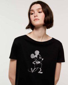 sisley μπλούζα μαύρη disney κοντομάνικη μίκι μάους καλοκαιρινή collection