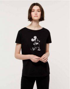 sisley μπλούζα μαύρο t-shirt disney κοντομάνικη μίκι μάους καλοκαίρι