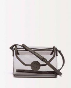 sisley τσάντα διαφανής μαύρη μικρή