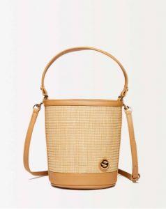 sisley τσάντα ψάθινη μπεζ καλοκαίρι