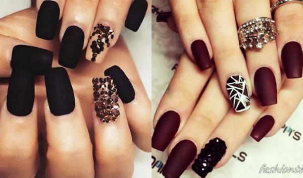 Τέλεια σκούρα βαμμένα νύχια που ξεχωρίζουν!