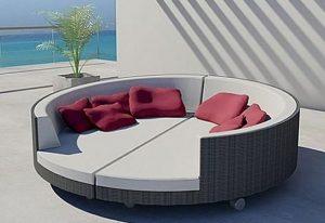 στρόγγυλος καναπές εξωτερικού χώρου