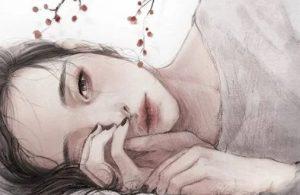 θλιμένη κοπέλα
