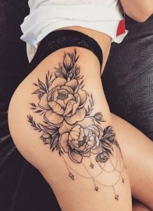 τριαντάφυλλα στον μηρό
