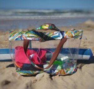 διάφανη τσάντες ώμου πολύχρωμα σχέδια
