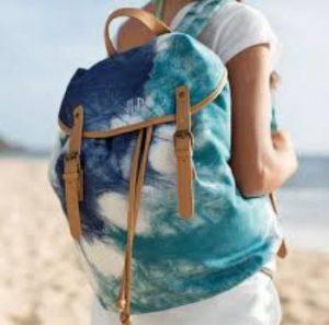 σακίδιο πλάτης παραλία πολύχρωμο γαλάζιο μπλε