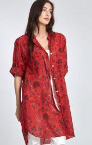 κόκκινη βαμβακερή πουκαμίσα Celestino