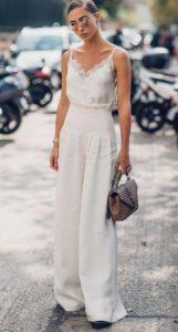 άσπρη γυναικεία παντελόνα