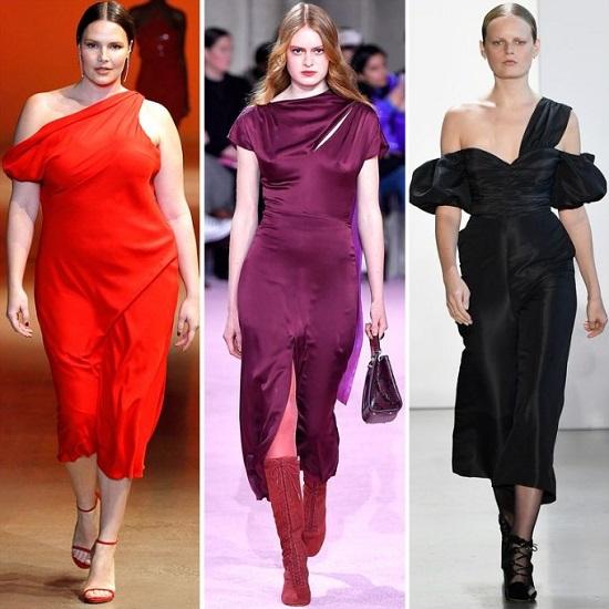 γυναικεία φορέματα ασύμμετρη λαιμόκοψη