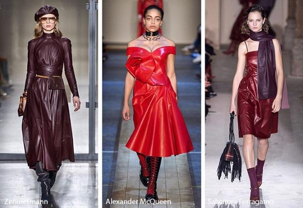 δερμάτινα φορέματα μόδα χειμώνας 2020