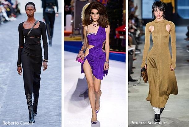 φορέματα με cutouts χειμώνας 2020
