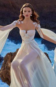 καλοκαιρινά νυφικά φορέματα cutouts