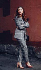 καρό γυναικείο κοστούμι