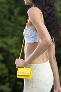 κίτρινο χιαστί τσαντάκι