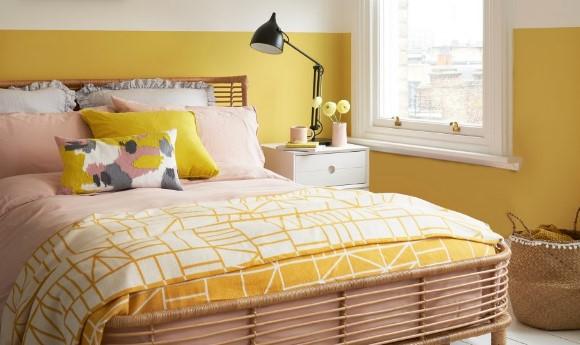 κίτρινο υπνοδωμάτιο κρεβάτι χρώμα χαρακτήρα