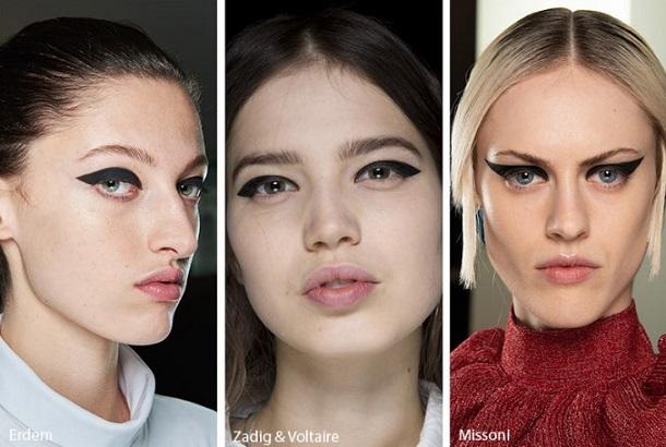 χειμερινά makeup looks eyeliner
