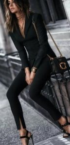 μαύρο γυναικείο κοστούμι